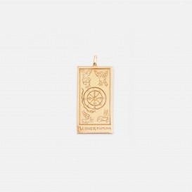 The Wheel of Fortune Card Charm
